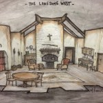 The Lonesome West: Set Rendering by Matthew Keenan
